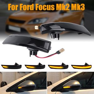 2PCS Dynamic Turn Signal LED Light Side Wing Clignotants Lumière Focus 2 3 2 3 Rearview Mirror Indicateur