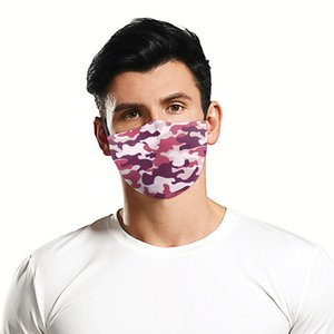 Fashion Face Mask Dust-proof Breathable Washable Reusable Protective Mask Jeans Camouflage Printing Masks For Men And Women LJJA5950