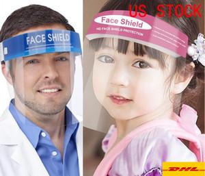 Yetişkin Çocuk Öğrenci Tam Yüz İzolasyon Şeffaf Visor Koruma Önlemek Splashing Güvenliği İçin Koruyucu Yüz Kalkanı Temizle Maskesi