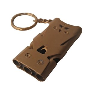 Camping Pet Training Portable Hiking And Camping & Hiking Anti Rust Three Tube Metal Referee Sports Whistle High Decibel Practical Sou kR93#