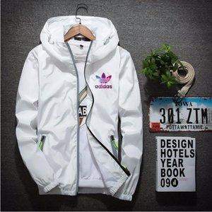 2020 Mens Jacket Hooded Spring Autumn Zipper Windbreaker Letters Print For Men And Women Hoodie Coat Slim Jacket M-6XL