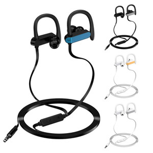Anti-Drop-Sport-Kopfhörer InEar-Kopfhörer Super Bass Laufen Musik Kopfhörer Ein-Ohr-Universal-Wired Kopfhörer für Telefon iPhone Xiaomi
