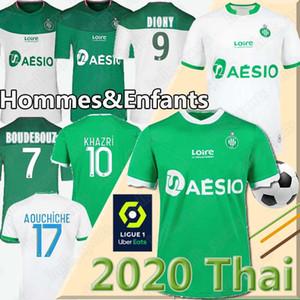 20 21 трико AS Saints Etienne трикотажные изделия футбола 2020 2021 трико ASSE Etienne ХАЗРИ Кабелле Beric Нордин HAMOUMA Футбольные майки равномерная