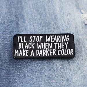 Vintage Black Color Cute Small Funny Enamel Brooches Pins for Women Girl Men Christmas Gift Demin Shirt Decor Brooch Pin Metal Kawaii Badge