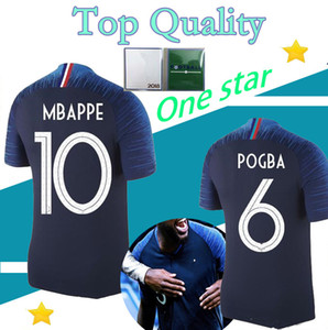 One Star 2018 2019 France MBAPPE GRIEZMANN POGBA KANTE jerseys FINAL world cup shirt top Thailand quality DEMBELE MARTIAL football jersey