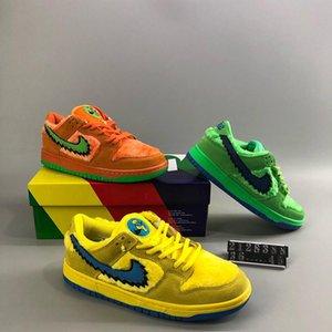 Designer SB Dunk Grateful Dead PRO Hommes Low QS Luxus-Bären-Pack Gelb Beaes Kanye Trainers Triple-Turnschuhe der Männer beiläufige laufende Schuhe