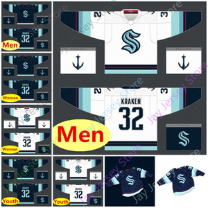 2020 New Custom Seattle Kraken Ice Hockey Jersey Blank Size Youth Adult Men Women All Stitched Embroidery