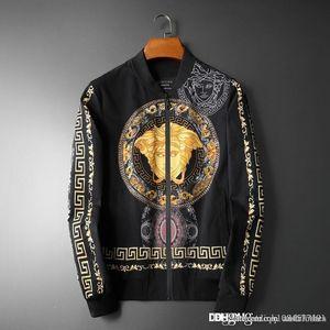 2019 quentes homens designerJackets homens casacos de marca dos homens Homens Windbreaker Streetwear Medusa jaqueta Moda Casacos pullover