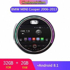 Android 8.1 système multimédia de lecteur audio autoradio GPS pour Mini Cooper 2006-2013 lecteur navigation noire Bluetooth 7qAV #