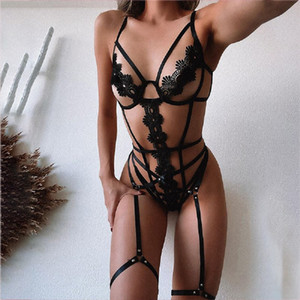 Bikini Sexy Woman Lingeries Set Panelled Bandage Designer Three Point Type Sexy Set Women 2pcs Underwear