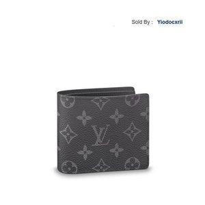 yiodocxrii WQM5 Portefeuille múltiple Negro clásico de la corto Fold cartera billetera M61695 Negro totalizadores bolsos de hombro Mochilas