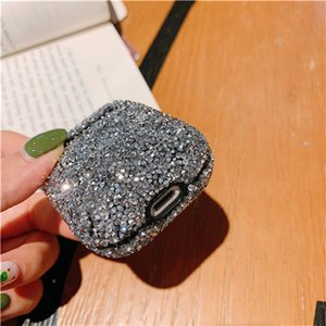 Caso Diamante Brilhante cintilando Ponto Wave para Airpods caso para a Apple Airpods1 / 2 capa protetora para vagens de ar