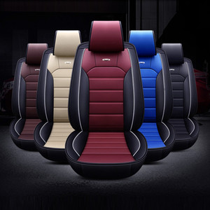 2020 newest Universal Leather fly 5D Stereo Car Seat cover Deluxe Edition black red blue brown