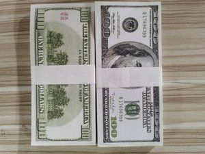 US Dollar Hot Sales Fake Money Movies Prop 100 Dollars Bank Note Counting Prop Money Festive Party Games Toys Collections Gifts D100 003