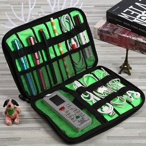 0ue6B múltiples funciones del cable de datos del teléfono móvil de carga de almacenamiento de gran capacidad tesoro tesoro de carga auricular tarjeta SD Bolsa de almacenamiento digital