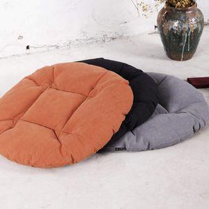 Japanese Style 50*50cm Round Shorthaired Rose Cushion Home Floor Chair Decor Cushion Pad Car Mat Chair 3 Styles