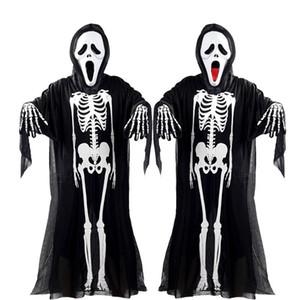 The latest Halloween horror suit, funny jewelry, horror skeleton scream costume, masquerade costume, adult, child, horror mask