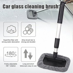 Car Windshield Cleaner Tool Retractable Handle Rotating Cleaning Brush Microfiber Covers Pads Glass Cleaner XR657 G8pR#