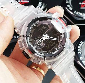 Mode 2020 Männer All Dial Arbeit Armbanduhr G Militärsport-Uhr-Sommer Neu Alarm Shock Uhren Analog-Quarz-Uhr-Taktgeber-Transparent