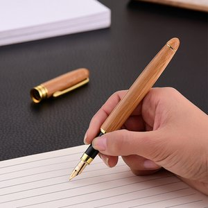 Bamboo Pen Wooden Recycled Eco Pen Wood Pen Roller Pens School Office Suppliers Gift Free DHL