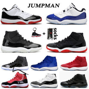 sapatos retro 11 aj 11s XI 25th Anniversary low tênis de basquete Concord Bred HIGH Space Jam Cap and Gown Gamma Blue Jumpman 23 homens mulheres Sneakers Trainers