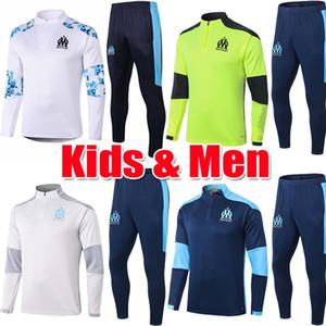 Hommes enfants Maillots de Foot 2020 2021 Olympique de Marseille Survêtements 20 21 Soccer Training Costume PAYET veste BENEDETTO OM Survetement