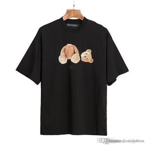 2021SS Summer Men and Womens T Shirts Estilista Tees Mismo Palm Palms Angels Impreso Manga corta Truncado Oso truncado Camiseta