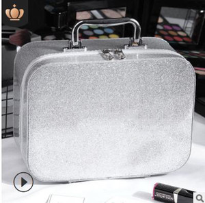 Make Up Bag Case New Arrival Shinning Urban Beauty Capacity Big Solid Zipper Pu Leather Best Selling Plain Hand