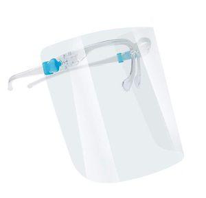수호자 얼굴 쉴드 클리어 투명 풀 페이스 재사용 플라스틱 산물 또는 유해한 안전 보호 바이저 안티 침 DHA435