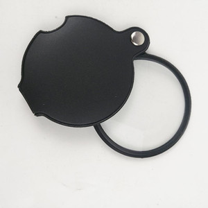 360pcs CTN Portable Mini Black 50mm 10x Hand-Hold Reading Magnifying Magnifier Lens Glass Foldable Jewelry Loop Jewelry Loupes