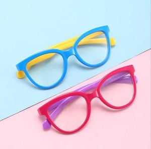 Мальчик девочка мягкая рамка антирадиационного детский Анти Синий свет Блокировка Стаканы плоское зеркало силиконовые очки