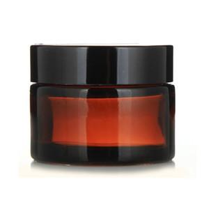 1 Adet 5g 10g 15g 20g 30g 50g Amber Cam Yüz Kremi Boş Kavanoz Kozmetik Örnek Kabı Seyahat Doldurulabilir şişeler Pot