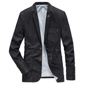ICPANS Casual Denim Blazers Men Suits Jacket Estilo Preto Azul Pockets Men Blazer 2020 Inverno