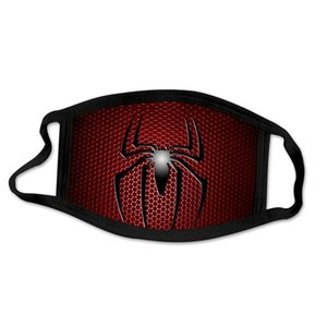 2020 Dhl Fashion Spider Man Spiderman Super Hero Designer Luxury Adult Face Mask Party Cosplay Reusable Dust Washable Windproof hotclipper H