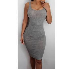 Для женщин Backless рукавов платья Sexy Ночной клуб Tight платье платье Мода Knit лета 2020 Элегантный Стройный Bodycon Casual