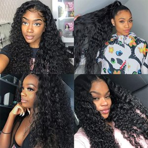 Lace Wig 180% Density Curly Full Lace Wig Human Hair 13x4 lace frontal wig pre plucked with baby hair