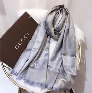 châle classique or et fil d'argent brillant écharpe en soie doux les femmes de la mode foulards brillants hommes femmes scarves.180x70 classique en soie