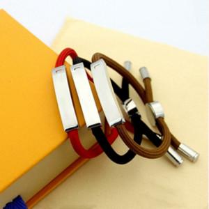 pulseira de alta qualidade do café preto pulseira vermelha casal de aço titânio pulseira projeto modelos de pulseiras de abastecimento de jóias de moda