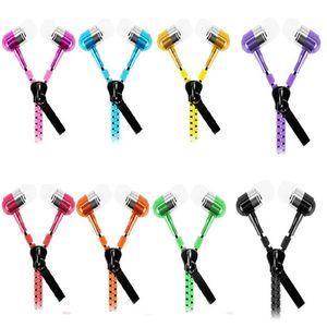 Zipper стерео 3,5 мм Jack Bass металла наушники наушники гарнитуры в ухо металла с микрофоном и Том наушники Zip для Samsung s5 MP3