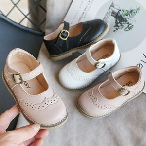 Toddler Infant Kids Baby Girls Boys Leather British Party Student Shoes Sandals Solid Flat With Shoes For Children Kids Shoes