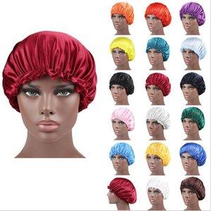Frauen-Schlaf Cap New Satin Nachtkappe Künstliches silkhut Double Side Wear Frauen-Kopf-Abdeckung Cap Bonnet für schönes Haar - Wake Up DHD162