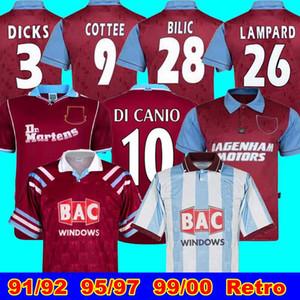 95 97 91 92 West-Centenary Retro Jahre Cole Di Canio Lampard Dicks 1999 00 Trikot camiseta 100. 99 Retro 00 Startseite Ham Retro Fußball-Trikot