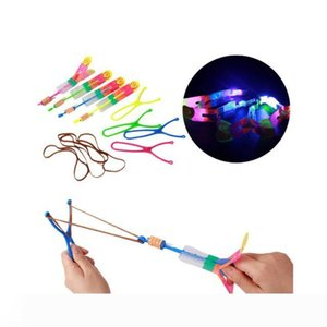 LED Arrow Helicopter Arrow Flying Helicopter Umbrella Kids Toys Space UFO LED Light Toys Christmas Halloween Flash Toys