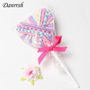 Европейская Красочная Резинка для волос Cute Lollipop Упаковка для Rope Детей девушки волос резинки аксессуары партии Supplies