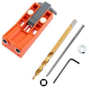 Vis extracteur 9.5mm Outil Travail du bois Oblique Trou Locator Meubles poinçonnage en bois Forage Étape Drill