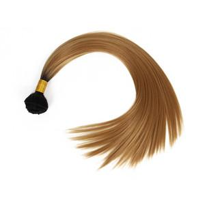 долго высококачественное синтетическое наращивание волос Перуанское наращивание волос ткет красоты красно-коричневые пучки 18ich плетение волос прямо Марли