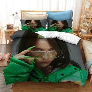 Billie Eilish 3D Bedding Set 3D Stampare Realizzazione Copripiumino Set Re Regina Doppia Size Boy regalo Dropshipping
