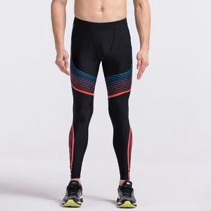 Pantalon Hommes de compression culturisme Jogger Fitness exercice leggings skinny Comperssion Collants Pantalons Pantalons Gym Vêtements