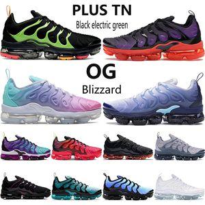 Nuevas mujeres de los hombres Plus Tn zapatillas de deporte negro eléctrica oro metálico mar de color rosa azul verde costera ser verdad para hombre zapatillas de deporte al aire libre OG