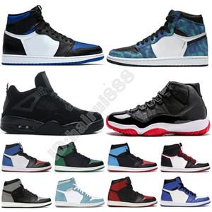 Yeni En İyi Satış Batik 1 11 13s Jumpman Flints Bred Kraliyet Burun Hare Mahkemesi Mor Uzay Sneakers Trainer Çocuk Kadın Erkek Basketbol Ayakkabı US 13